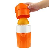 exprimidor manual de jugo de naranja al por mayor-Juicer de naranja Manual de mano Material de paja natural Jugo de limón Prensa Exprimidor Exprimidor de frutas Exprimidor de cítricos Exprimidores de frutas