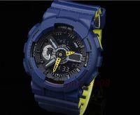 освещение спортивных часов оптовых-Новый стиль оригинальный цвет высокое качество синий зеленый 2 цвет ремешок авто свет водонепроницаемый очки набрать все указатель работы спортивные мужские часы
