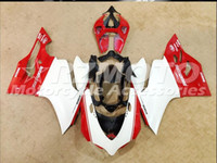 Wholesale Free gifts New Hot Injection ABS bike Fairings Kits Fitment For DUCATI Bodywork set Red White D3