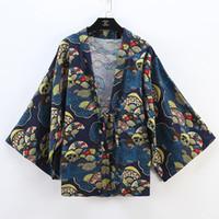 cosplay original venda por atacado-Novo e moderno japonês tradicional roupa de linho quimono original escola uniforme para cosplay novo