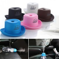 Wholesale ce hat - USB Cowboy Hat Humidifier Mini Cowboy Cap Humidifiers Office Household Water Bottle Cover Incense Burner