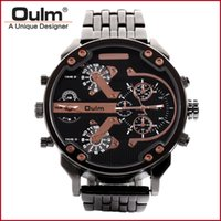 брендовые часы китай  оптовых-Man Wristwatch China Manufacturer Oulm  Quartz Watches Men Watch Men Big Dial Analog Dial Display New with tags HT3548