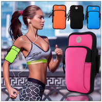 Wholesale nylon phone pouch - 5 Colors Nylon Waterproof Sports Running Case Armband For iPhone Pouch Cell Phone Arm Bag Band Universal Arm Bag CCA9121 50pcs