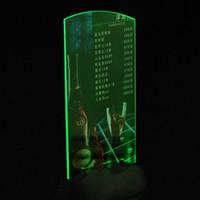 подставки для меню ресторана оптовых-Hot 1pcs Holder Stand Acrylic Flashing Led Light Table Menu Restaurant Card Display Drop Shipping