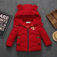 ingrosso corone del neonato-Baby Boy girls Snowsuit Outwear Orso Orso Crown Love Print invernale Cappuccio per bambini Capispalla Cappotto casual KKA6171