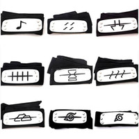 Wholesale naruto cosplay costumes for sale - 2018 ANIME Naruto Headband cm Konoha Kakashi Akatsuki Members Cosplay Costume Accessories colors TC180821