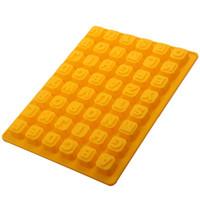 moldes de silicona para hornear cuadrados al por mayor-26 Inglés alfabeto chocolate moldea DIY Plaza del enrejado del hielo de silicona moldes para hornear Inicio moldes de alta calidad 5 03 a.m. XB