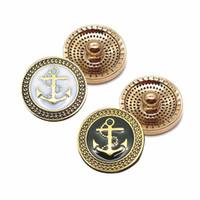 ingrosso braccialetto di ancoraggio di alta qualità-Alta qualità w291 Chiusura con bottone a pressione in metallo con strass da 18 mm per gioielli con bracciale per donna. Accessori moda