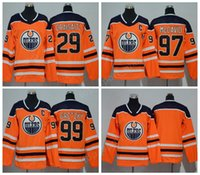 Wholesale Green Kids - Men Women Youth Edmonton Oilers Jerseys 2018 Ice Hockey 99 Wayne Gretzky 97 Connor McDavid 29 Leon Draisaitl Jersey Man Kids Woman Orange
