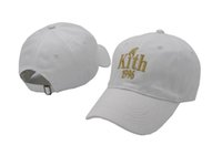 Wholesale kith hat - New 2018 letters Kith 1996 print dad hat pure cotton SNAPBACK baseball cap summer beach travel cap