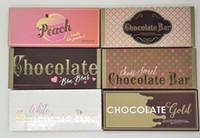 ingrosso tavolozza bar-Ombretto di pesca dolce al cioccolato Tavolozza di cioccolato color oro ombretto troppo bianco Barretta di cioccolato bianco 18 colori Pesche Ombretto Trucco Cosmetici