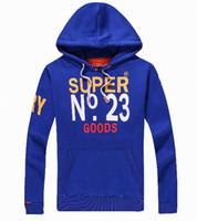 Wholesale Mens Brown Wool Winter Coat - 2018 Autumn Winter Fashion Men's Jacket Length Sleeve Superdry Hoodies Sweatshirts Print Hoody Hooded Mens Pullover Zipper Coat N1~N22