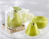 Wholesale salt pepper wedding giveaways resale online - Wedding Party Favors The Perfect Pair Ceramic Pear Salt Pepper Shaker for Wedding Giveaways Gifts W7273