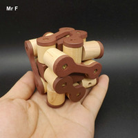 Educación y Desarrollo Mental Snake Wood Cube Toy Adult Luban Lock Puzzle Enseñanza Prop Educational Gadget