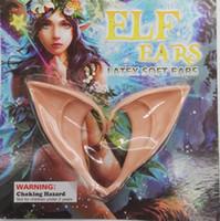 ingrosso orecchio diy-1 paio orecchie da elfo festa di halloween fai da te cosplay decorazioni fata orecchio in lattice falso orecchie halloween festa di natale costume puntelli