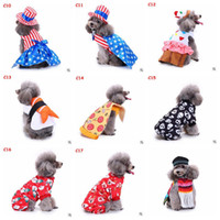 Wholesale wedding costume male for sale - 17Styles Funny Dog Cat Pet Halloween Xmas Christmas Costumes Striped Star Skull Cosplay Pet Clothing Birthday Party Clothes AAA969