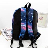 i̇ngiliz bayraklı torbalar toptan satış-STANCHION Moda Kadınlar Yıldız Evren Uzay Baskı Sırt Okul Kitap İngiliz Bayrağı Yıldız Çanta 4 Renk Tarzı