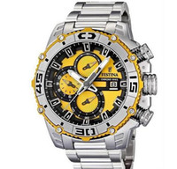 Wholesale men's sport watches - F16599 F16599 Men s Quartz Watches Tour DE France Chrono Bike Fashion Sports Style Chronograph White Dial Stainless Steel Band