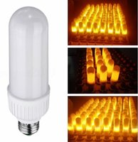 Wholesale best e27 led bulb resale online - Best Promotion W SMD LED Lamp Bulb E27 B22 K Yellow Flickering Flame Fire LED Light Bulb Corn Light Bulb AC85 V LLFA