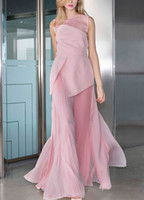 New Women's Dresses In Summer 2018, Round Neck Sleeveless Split Skirt, Fake Two-piece Suit, Foreign Style Dress, Fashion Pleated Skirt