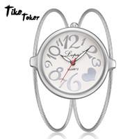 viejos relojes digitales al por mayor-TIke Toker, Reloj de pulsera para mujer Reloj de pulsera de cuarzo para mujer Classic Lvpai para mujer