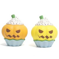 Wholesale Simulation Pumpkin ice cream Squishy Slow rebound Halloween Squeeze toys PU Decompression Toy cartoon Kawaii Charms C4994