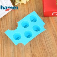Wholesale ice mold stick resale online - Blue Silicone Chocolate Mold Cartoon Animal Shark Fins Shape Ice Maker Mould Non Stick Ices Cube Tray Durable hm B