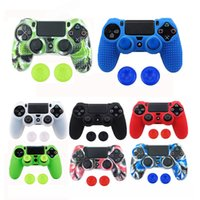 Wholesale sony playstation case for sale - Studded Anti slip Silicone Rubber Cover Skin Case for Sony PlayStation PS4 DS4 Pro Slim Controller with Caps