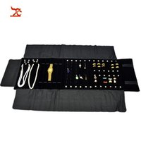 Wholesale necklace storage roll resale online - Big Sale Multi functional Velvet Jewelry Display Chain Necklace Ring Earring Stud Storage Case Foldable Jewelry Travel Roll Bag