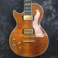 Wholesale china guitar brands resale online - Manufacturer sales Tiger stripes Electric Guitar Brand Left Hand Electric Guitars Guitars in China guitarra