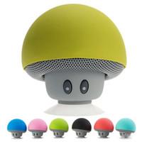 hoparlörlü silikon toptan satış-Kablosuz Bluetooth Mini Hoparlör Mantar Su Geçirmez Silikon Emme Handfree Tutucu Müzik Çalar iphone 4 4 s 5 5c 5 s SE 6 6 s