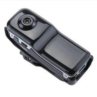sport-kamera webcam großhandel-2017 MD80 Mini DV Camcorder DVR Video Kamera Webcam Unterstützung 16 GB HD Cam Sport Helm Bike Motorrad Kamera Video Audio Recorder