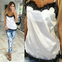 d507b6c0d3d9 Sexy Womens Summer Vest Top Blouse Casual Tank Tops T Shirt adult sexy  onesie robe pajamas lingerie silk robe satin