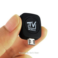 mini receptor de tv digital usb venda por atacado-Freeshipping Alta Qualidade Mini Micro USB DVB-T Receptor de Sintonizador de TV Móvel Digital para Android 4.0-5.0