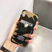 ingrosso jeans modello di esercito-Esercito Jean modello cassa del telefono mobile per IPhone X IPhone7 8 8plus 6 6s Plus Custodie protettive Moda Coque Back Cover Custodia