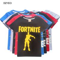 kinder t-shirts großhandel-Sommer Fornite Spiel Abbildung T-Shirt für Teen Boy Mädchen Kleidung Fortnite Schlacht Royale Kid Baumwolle T Shirt Top Kinder Boutique Tee