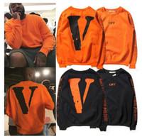 ingrosso maglione metrosexual-Europa e Stati Uniti con la sezione Kanye del marchio di strada alta sciolto maglione felpe con cappuccio V nero lettere Metrosexual
