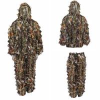 Wholesale hunt kit resale online - Durable Outdoor Woodland Sniper Camo Ghillie Suit Kit Cloak Outdoor Leaf Camouflage Jungle Hunting Birding Suit Novelty Items CCA10371