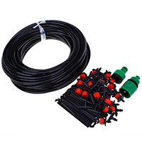 Wholesale dripping hose online - Practical Automatic Drip Watering Irrigation Suit Micro sprinklers Spray Plant Garden Watering System Hose Kits Connector