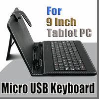 estuche plegable para teclado al por mayor-100X 2014 colores Funda de cuero con teclado USB para 9 pulgadas Android Tablet pc Funda protectora de cuero plegable B-JP