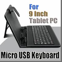 renkli tabletler toptan satış-100X4.0 renkler Için USB Klavye Kılıf 9 inç Android Tablet pc Katlanır Deri Koruyucu Kılıf B-JP
