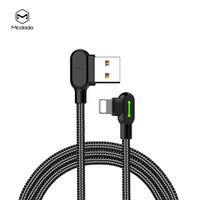 câble usb usiné achat en gros de-Nylon MCDODO 4ft / 6ft tressé 90 degrés à angle droit USB de charge Lightning 8pin câble pour iphone