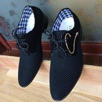 calçados homens tamanho 6,5 venda por atacado-Novos homens do noivo sapatos de vestido preto sapatos de pano de algodão homens mocassins apartamentos masculinos plus size eua 6.5-10 99