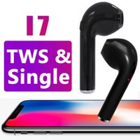 Wholesale invisible earpieces - i7 Single TWS Wireless Bluetooth Earphones For iphone X Twins Invisible Earbuds V4.2 Stereo Music Headset Phone Earpiece With Retail Package