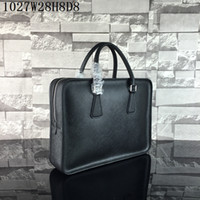 Wholesale laptop bags online - Men laptop bags real Leather single zipper cm wide Cross Grain Notebook cases Men business casual briefcases Honest orders
