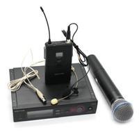 Wholesale wireless headset microphone system uhf - Professional Karaoke Microphone UHF PRO SLX24 SLX14  BETA58 WIRELESS MICROPHONE SYSTEM + Handheld + Lapel + headset Mic for Stage