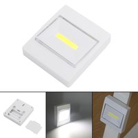 Wholesale battery operated camping lights resale online - Ultra Bright Magnetic Mini COB LED Wall Light Night Light Camp Lamp Battery Operated with Switch Magic Tape for Garage Closet Q0400
