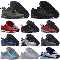 Wholesale famous massage - Hot Selling Drop Shipping Famous Cushion 90 Mid Winter Zoom Boots Mens Athletic Sneakers Sports Running Shoes Size 40-45