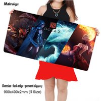 Wholesale Gifts For Gamers - Mairuige Shop Dota 2 Large Gaming Mouse Pad 90X40CM Mouse Pad Gamer Locking Edge Keyboards Mat Mousepad for boyfriend Gift
