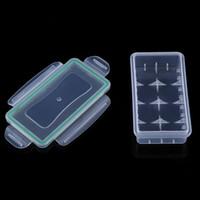 ingrosso caso di plastica dura impermeabile-La più nuova scatola di immagazzinaggio del supporto della cassa della batteria 18650 dura la cassa di plastica resistente all'uso antiusura della copertura protettiva delle batterie Trasporto libero
